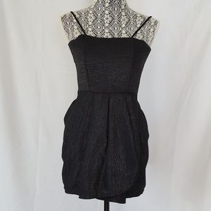 Alice + Olivia size 0 black shimmer cocktail dress